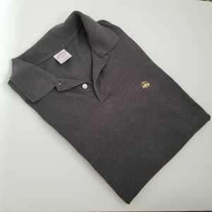 Brooks Brothers Shirts - Brooks Brothers Slim Fit Logo Gray Polo Shirt